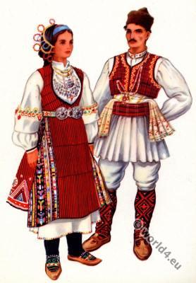 Macedonian national costumes from Kocani.