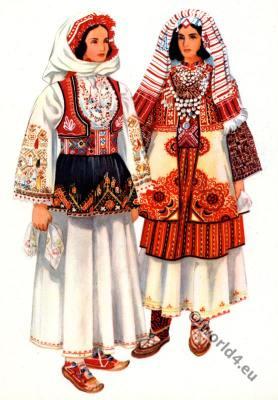 Vladimir Kirin. Serbian national costumes from Kosovo, Peć.