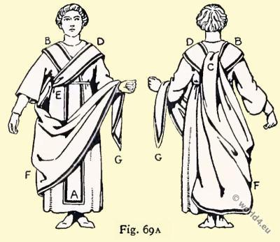 Byzantine Consuls insignia. The toga. East Roman costume history