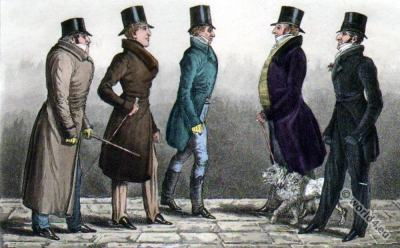 "Regency Dandy Clubs, Dandysme. The Earl of Sefton, The Duke of Devonshire, ""Poodle Byng"", Lord Manners, The Duke of Beaufort."