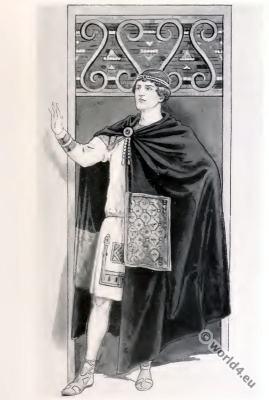 Byzantine costume history. Emperor costume.