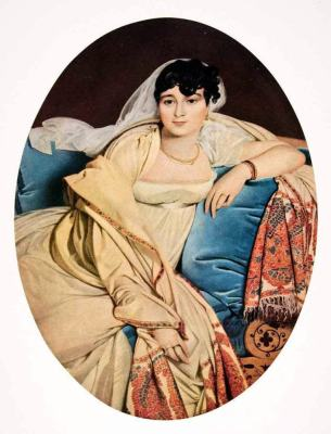 Caroline Rivière. Neoclassical painting. Jean Auguste Dominique Ingres. First empire fashion.