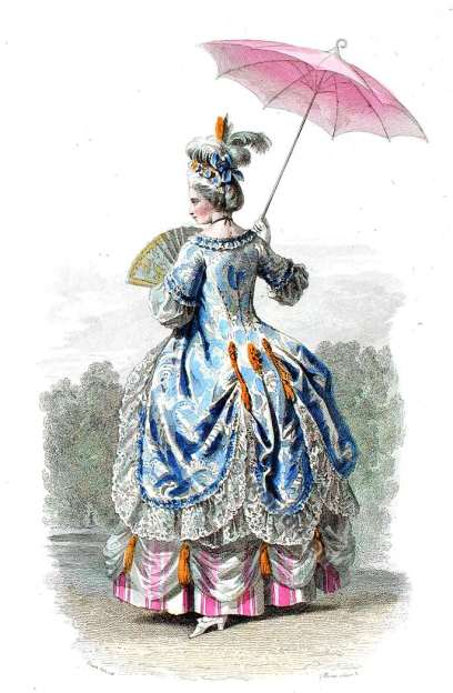 Court dress, Louis XV. 18th century clothing, Rococo