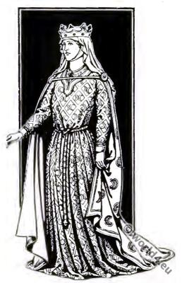 Eleanor, Aquitaine, Medieval, Queen, Middle ages, costume, history