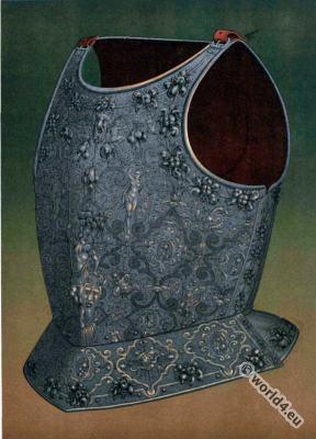 Renaissance Breastplate chiseled. Italian Armory. 16th century.