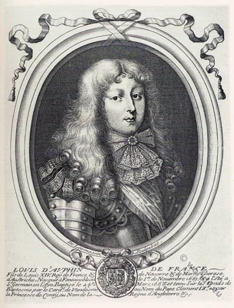 Louis, Dauphin of France, Le Grand Dauphin, alonge wig, french king