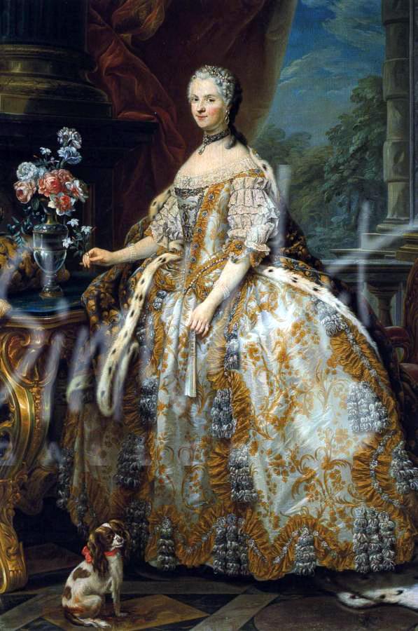 Marie Leczinska. Rococo costume. Queen of France.