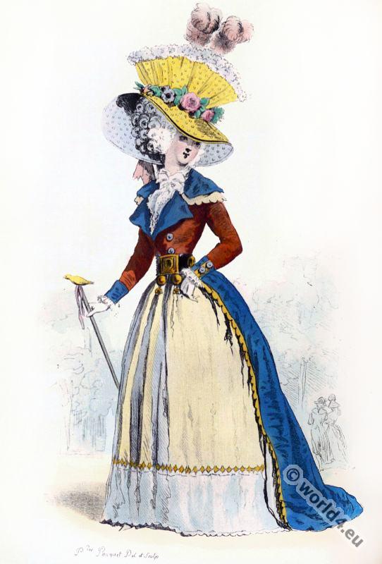 Rococo Costume History. Reign of Louis XVI. 18th century fashion.