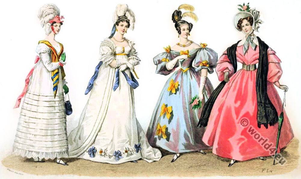 302bab389f66 Restoration or Romanticism fashion era. | Costume & Fashion History