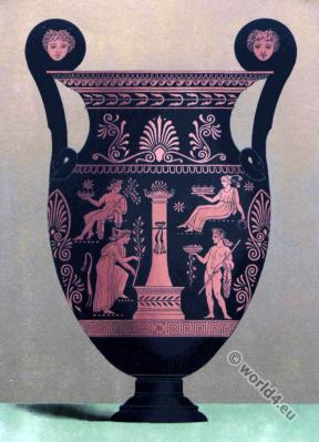 Greek Art. Vase and painted clay.