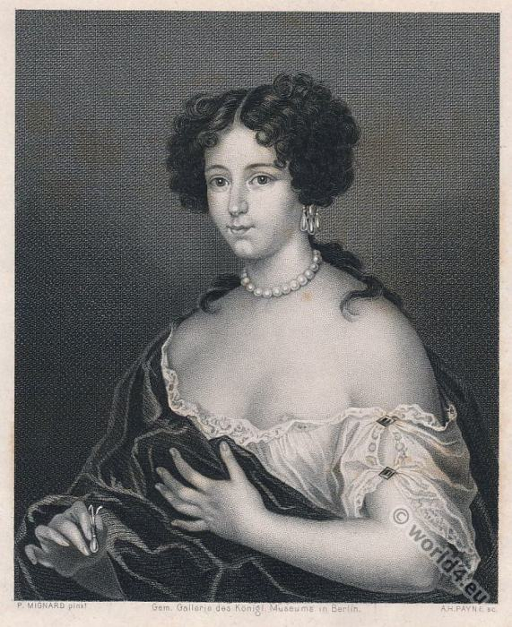 Marie Mancini, mistress,Louis XIV, 18th century fashion