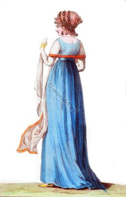 Costume Parisien. French directory fashion. Regency costumes.