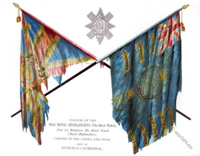 Flags of the Royal Highlanders. The Black Watch.