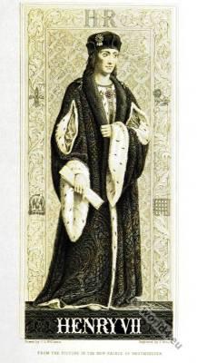 England King Henry VII. Tudor Coronation costume