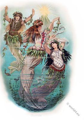 Rheingold. The three daughters of the Rhine