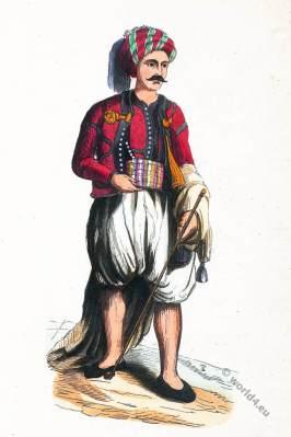 Arabia. Moor from Algeria. Historical clothing.