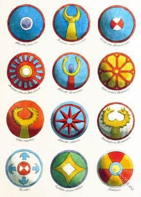 Gallic, Celtic shield Ornaments. Clans in the Roman Empire.