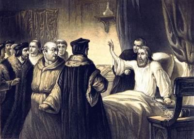John Wycliffe. English Scholastic philosopher. 14th century