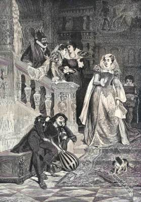 Mary Stuart, Queen of Scots and Rizzio. Tudor costumes