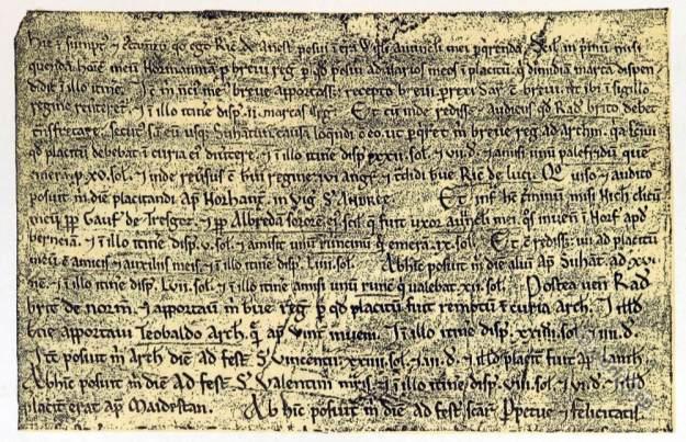 Richard de Anesti. Court life. Middle Ages law-suit. Plantagenet.