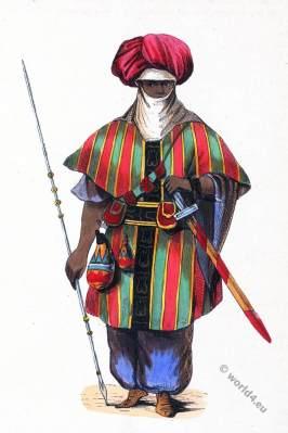 Arabia, North-Africa. Tuareg Warrior. Historical clothing.