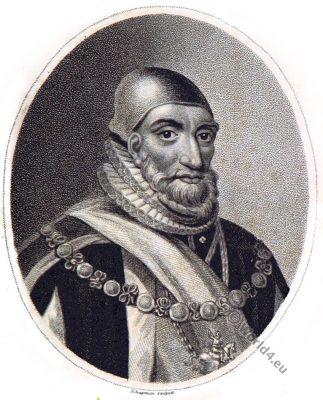Admiral Howard Earl of Effingham. English statesman. Lord High Admiral. Tudor era