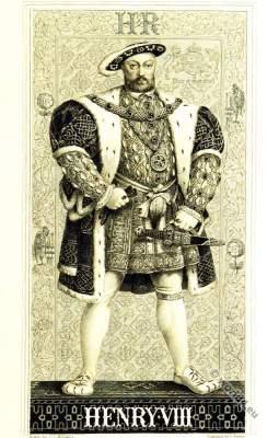 Henry VIII Tudor, English King, 16th century. Renaissance era clothing