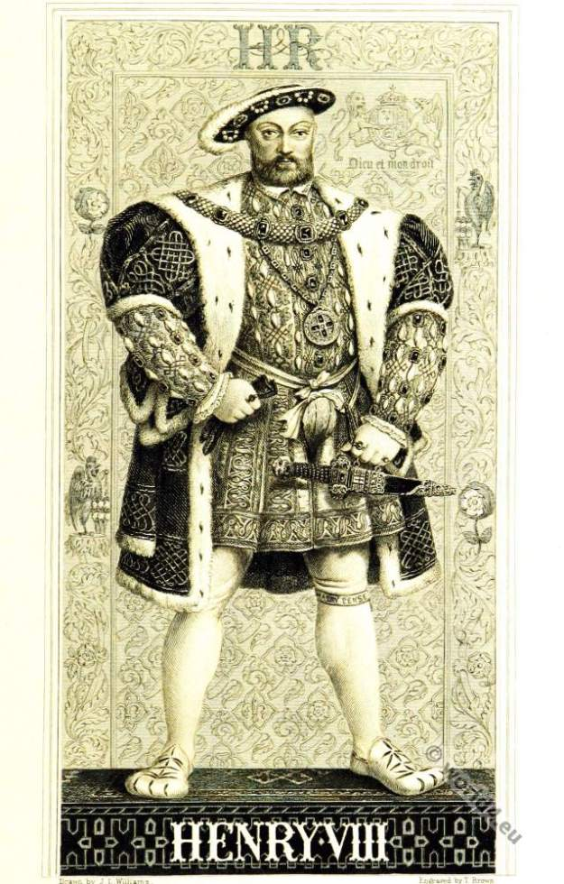 Henry VIII, Tudor, English King, 16th century, Renaissance,  clothing
