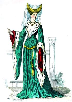 Medieval, Burgundy, middle ages, fashion, history