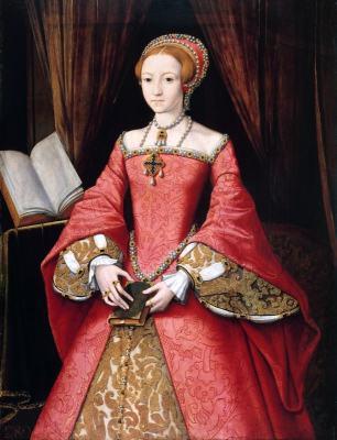 Queen Elizabeth I as a Princess. Tudor era costumes. 16th century fashion.