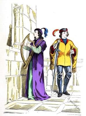 Troubadour, minstrel, page. Medieval composer, singer13th century.