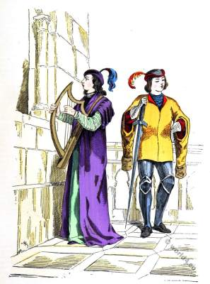 Troubadour, minstrel, page. Medieval composer, singer 13th century.