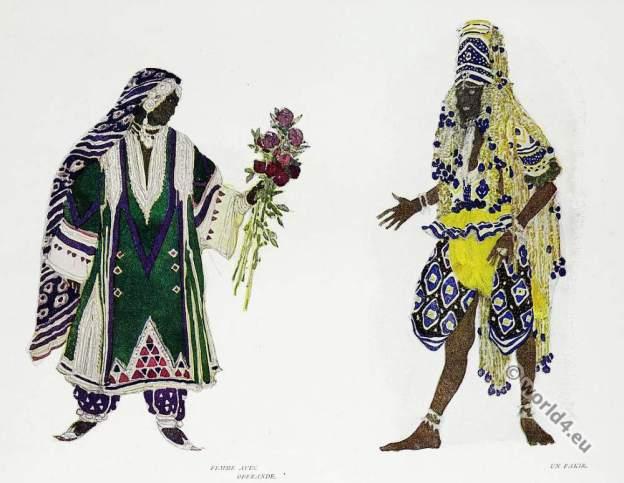 Russian ballet. Costume designs. Leon Bakst.