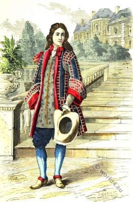 Lord costume. Baroque era clothing. 17th century fashion