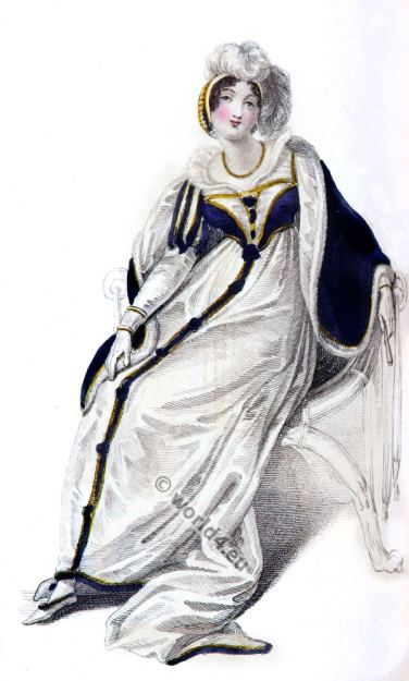 Regency costume. Rudolph Ackermann. Georgian era fashion