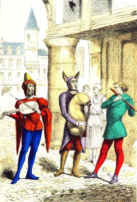 Wandering musicians clothing. 15t century fashion. Middle ages costumes