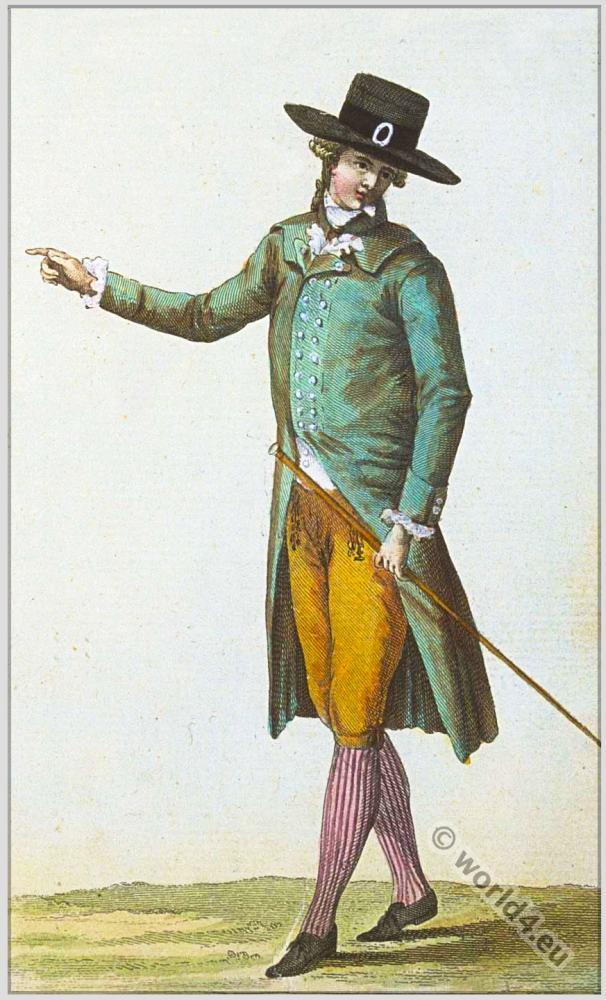 Cabinet des Modes. Fashion History. 18th century costumes. rococo fashion.