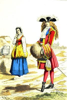Knight of St. Louis fashion. 17th century costumes. Baroque fashion. Louis XIV