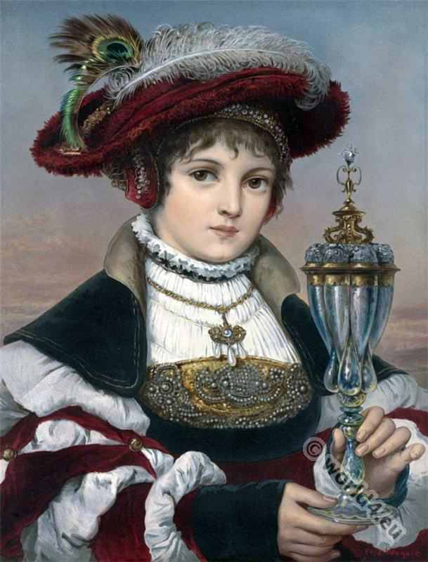 Elsa. Ferdinand Wagner. Nazarene.Romanticism art.