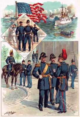 United States Army. Navy uniforms. U.S. military coctumes.