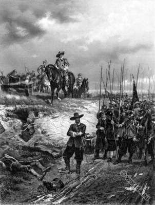 Battle of Marston Moor. Oliver Cromwell England History 17th century.