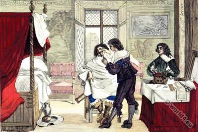Interior 17th century. Baroque fashion. Louis XIII era.