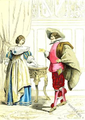 Noblewoman and Lord fashion. 18th century fashion. Baroque costumes