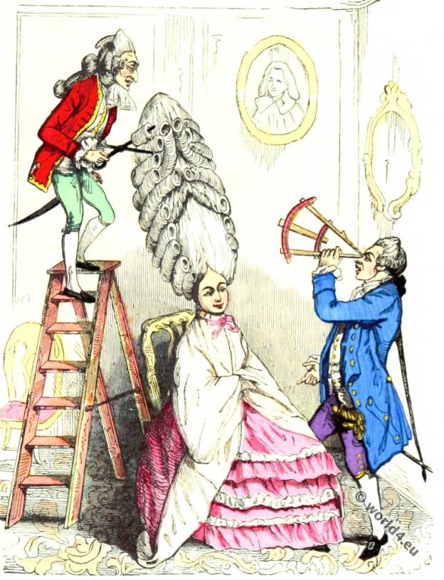 Coiffure, Louis XVI, Court dress, Rococo, fashion history, 18th century