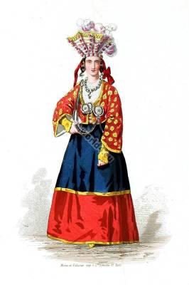 Moravia traditional folk dress. Expo Vienna. Austria national costume