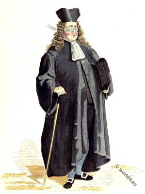 France notary clothing. 18th century fashion.