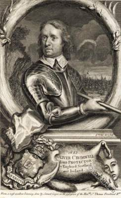 Oliver Cromwell. English History. England 17th century.