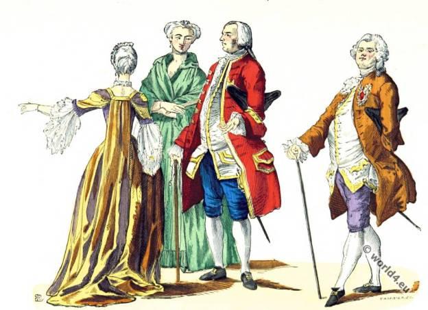 Rococo, fashion, costumes