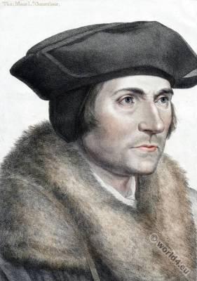 Sir Thomas More, Hans Holbein the Younger. Tudor era.