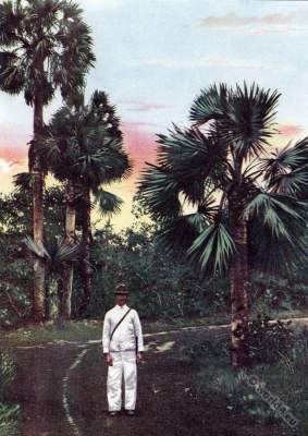 Traditional Cuba costumes. Caribic islands. American colonialism. Creole costumes. Spanish–American War.